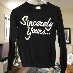 Sincerely yours knit sweater